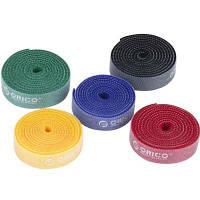 ORICO CBT-5S Многоразовые кабельные стяжки для бытовой электроники (5 x 3.3 фута / 1 м) Цветной