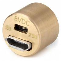 DQG светодиодный Micro USB фонарик с брелоком на аккумуляторах 10180/10440 Медный