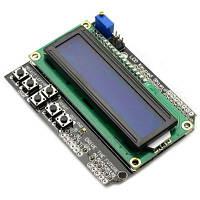 LCD1602 символьный ЖК-Клавиатура щит платы расширения ввода-вывода работает с Arduino Как на изображении