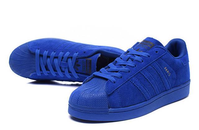 Кроссовки женские Adidas SUPERSTAR PARIS фиолетовые, фото 2