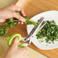 Из Нержавеющей Стали 5 Слой Ножницы Многофункциональный Кухонный Инструмент Приготовления Пищи случайный цвет