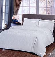 Постельное белье сатин-жаккард Евро Violette белый Tac