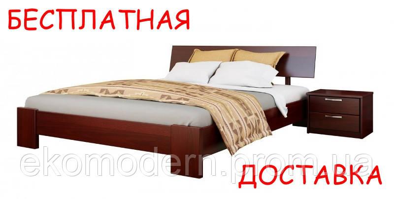 Кровать деревянная ТИТАН (160х200 см) из натурального дерева бук с ортопедическими ламелями + доставка