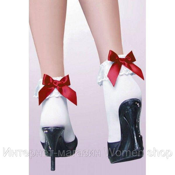 Белые носочки с бантиком
