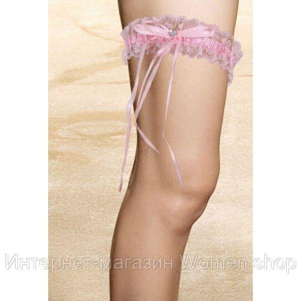 Розовая ажурная повязка