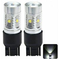 Пара Sencart 7443 в w21 21 Вт W3X16Q Т20 2100lm пробки Сид 30W 6 x Кри xpe 6500-7500k вело тормоза автомобиля лампы источника света (DC 12-24В)
