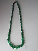 Ожерелье натуральные изумруды огранка 6-14 мм длина 46см Индия вес 39г