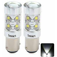 Sencart Baz15d 1122 Р21 50Вт 10 х Cree серии xpe 3100lm решетки LED автомобилей тормозные свет-чистый белый 1 пара / комплект Холодный белый