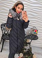 Женская зимняя куртка Брошка