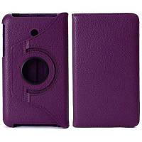 360 градусов вращающийся Личи шаблон эластичный пояс стенд кожаный чехол для Kindle 7 FE7010CG Фиолетовый