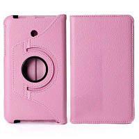 360 градусов вращающийся Личи шаблон эластичный пояс стенд кожаный чехол для Kindle 7 FE7010CG Розовый