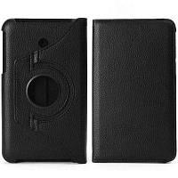 Личи текстуры дизайн ПК искусственная кожа 360 градусов вращения чехол с упругой подставкой функции пояса для Kindle 7 FE7010CG Чёрный