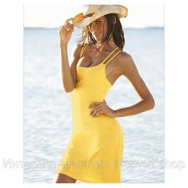 Пляжная туника лимонного цвета