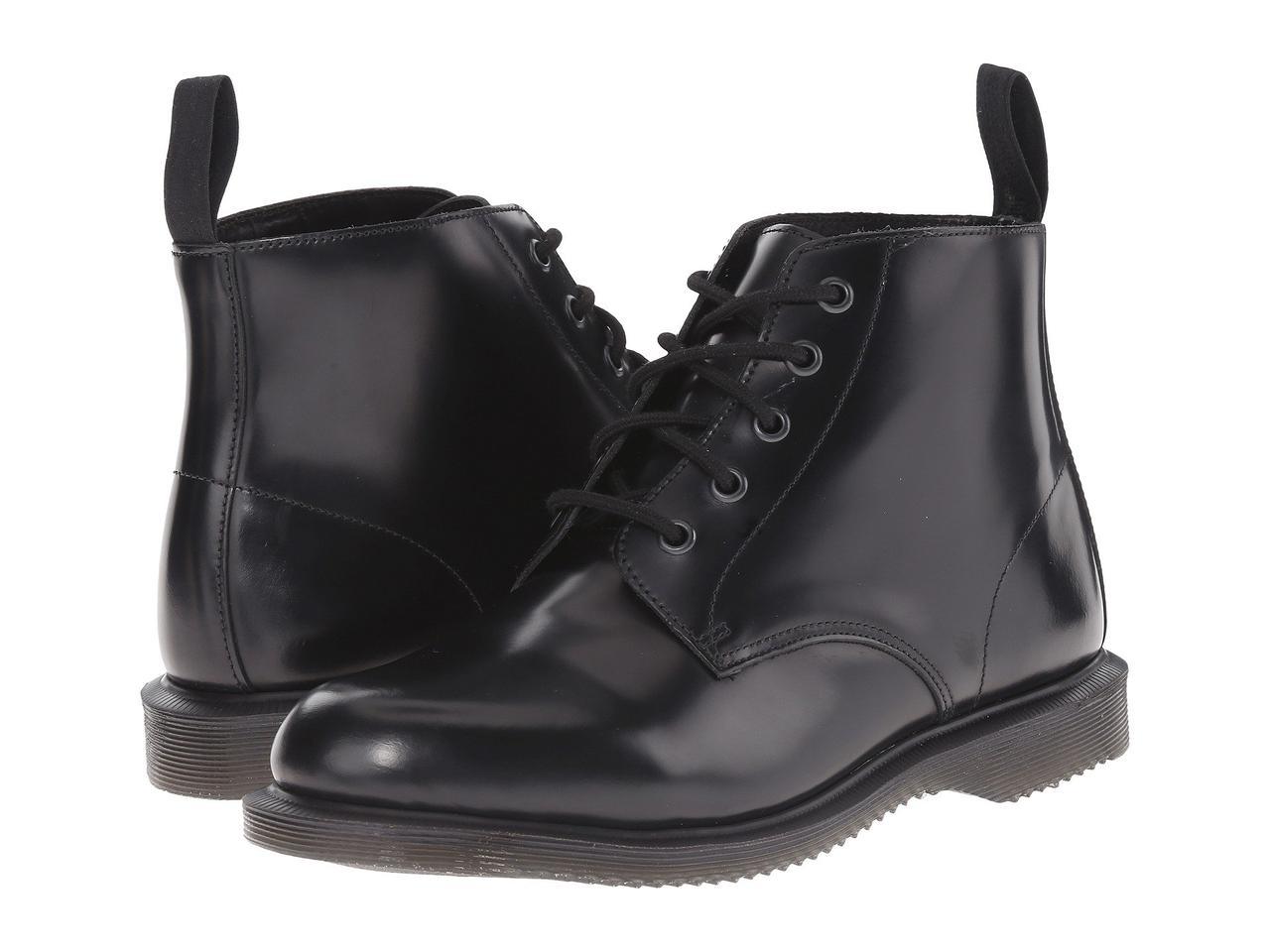 Ботинки Сапоги (Оригинал) Dr. Martens Emmeline Black Polished Smooth -  TopUSA