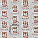 Бавовняна тканина польська лисеня-пілот на сірому, фото 5