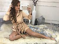 Трендовая женская пижама с шортиками