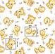 Хлопковая ткань польская мишки бежевые №202, фото 5