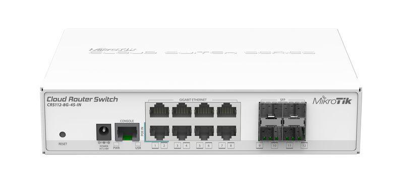 Комутатор Mikrotik CRS112-8G-4S-IN