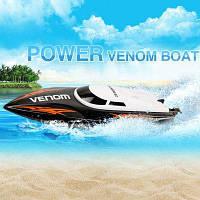 UDI 001 Tempo Power Venom 2.4G РУ лодка высокоскоростная гоночная яхта Чёрный