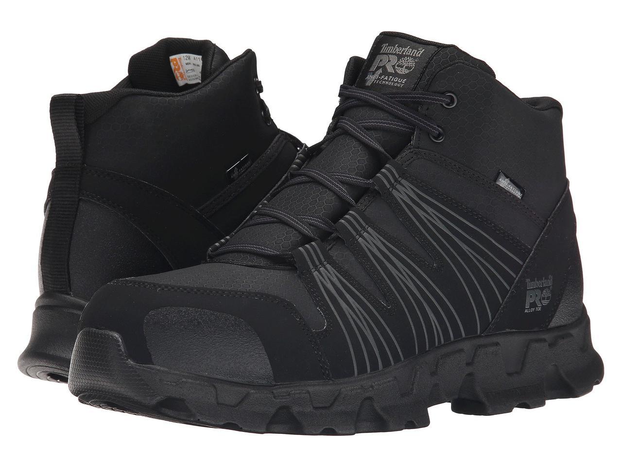 Ботинки/Сапоги (Оригинал) Timberland PRO Powertrain Mid Alloy Safety Toe ESD Black Synthetic