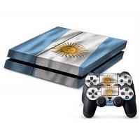 Аргентинский флаг Стиль игровая приставка геймпад контроллер наклейки кожи для ps4 Как на изображении