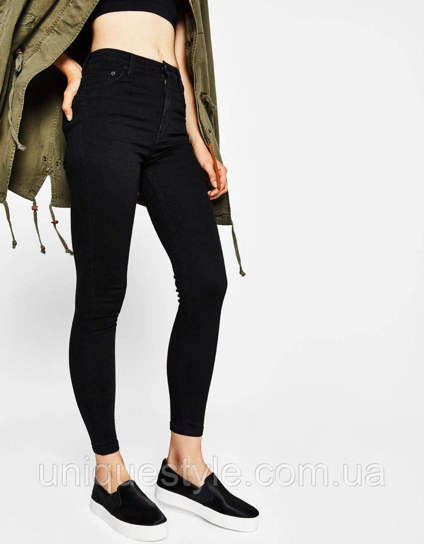 cba94c60bb9 Женские джинсы скинни с завышенной талией H M в наличии XS S M L XL -  Unique Style (