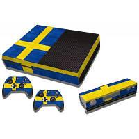 Швеции флаг шаблон Стиль игровая приставка геймпад наклейка наклейка для Xbox один Синий и жёлтый