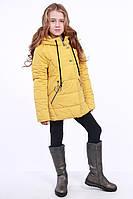 Куртка детская для девочки демисезонная желтая на рост 116 - 152 см, NK-02