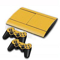 Игровая приставка геймпад контроллер протектор 3D наклейки углеродного волокна кожи для PS3 тонкий 4000 Жёлтый