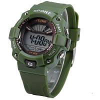 ITaiTek ИТ-820 LED спортивные светодиодные часы Дата неделю сигнализации хронограф 50m водостойкой наручные часы Зелёный