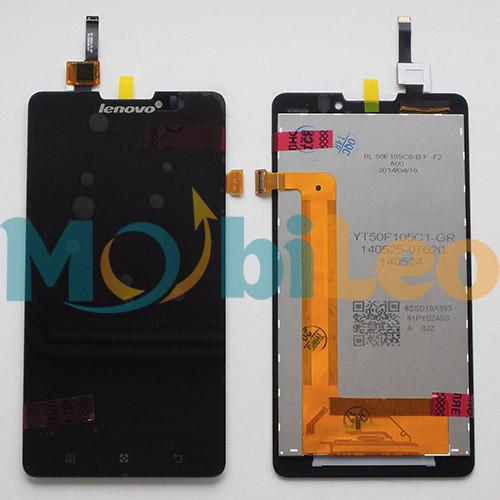 Дисплей (LCD) Lenovo P780 с тачскрином, черный оригинал