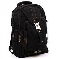 Модный подростковый рюкзак черного цвета Goldbe арт. 2403Black