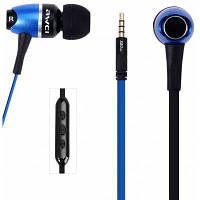 Стерео S80vi 1.25 м кабель металл Рок в-ухо наушники с микрофоном регулятор громкости Синий