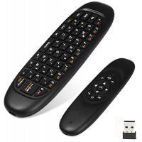 C120 2.4GHz беспроводная клавиатура QWERTY+воздушная мышь+пульт дистанционного управления для Windows / Mac OS / Linux / Android Чёрный