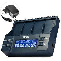 Opus BT-C900 Intelligent 9V Зарядное устройство с LCD экраном для Li-ion и NiMH аккумуляторов с US Вилкой Европейская вилка