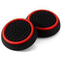 Комплект аксессуаров для переносных контроллеров колпачок кнопки для PS4 / XBox One 2 шт черный и красный