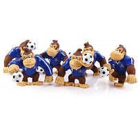 6шт игру супер братья Марио донки Конг обезьяна с футболом Рисунок модели