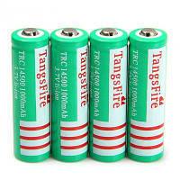 4 шт tangsfire 14500 3.7 в 1000 мАч литий-ионный аккумулятор Зелёный цвет травы