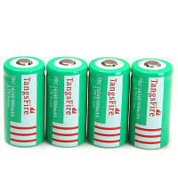 4 шт tangsfire 16340 900 мАч х литий-ионный аккумулятор Зелёный цвет травы