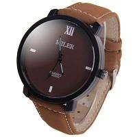 Miler A828502 Аналоговые мужские наручные часы кварцевые часы для мужчин кожаный ремешок для часов