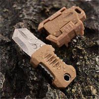 EDC передач 2 полный лезвие лямки пряжкой Открытый нож выживания с ремешок Хаки