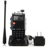 Баофэн UVB2 плюс УКВ / УВЧ двухдиапазонный Программируемый рация двухстороннее Радио FM трансивер Портативные двойной домофон с фонариком Чёрный
