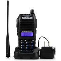 Baofeng UV82 компактная VHF / UHF двухдиапазонная рация, FM-радио, ЖК-дисплей, ручной приемопередатчик со светодиодным фонариком Чёрный