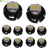 Sencart Т4.2 СМД 3528 СИД дневного света боковые Габаритные свет приборной панели лампы (DC 12-16В 10 шт) Холодный белый свет