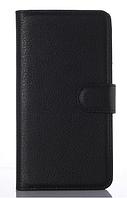 Кожаный чехол-книжка для ZTE Blade A610 черный