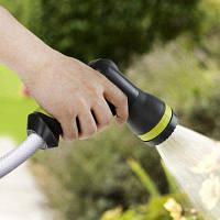 TOKUYI TO-GSA Регулируемый пистолет-распылитель для шланга для поливания газона и мойки машины Серый