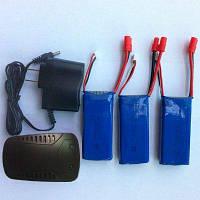 СЫМА X8C RC горючего запчасти 3шт 7.4 в 2000 мАч батареи+зарядное устройство+баланс зарядное устройство Синий и чёрный