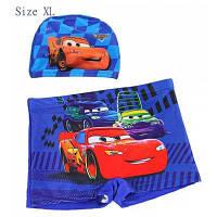 ЮКЕ, плавки и Кепка набор мальчиков короткие брюки с мультфильм шаблон автомобилей XL