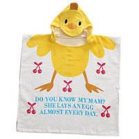 Юке хлопок Роба ванны для 1-5 Год-старые дети симпатичные Лягушка / Кролик / Пингвин / утка с капюшоном полотенце Жёлтый