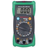 MASTECH MS8233B Профессиональный цифровой мультиметр для измерения напряжения переменного тока с подсветкой проверка / непрерывность Чёрный и зелёный